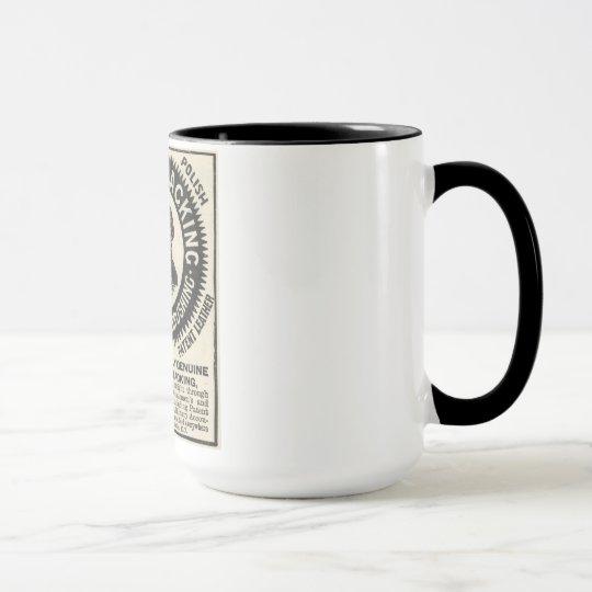 Vintage Nubian schwärzende Anzeigen-Kaffee-Tasse Tasse
