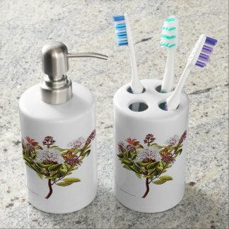 Vintage NZ Blumen - Meterosideros albiflora Badezimmer-Set