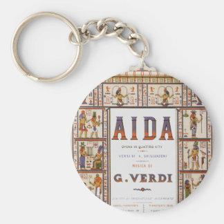 Vintage Opern-Musik, Ägypter Aida durch Verdi Standard Runder Schlüsselanhänger