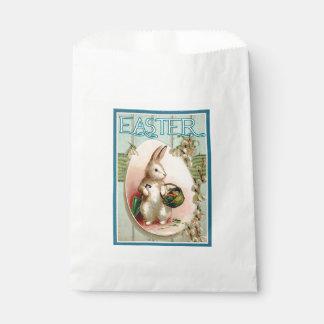 Vintage Osterhasen-Malerei-Bevorzugungs-Tasche Geschenktütchen