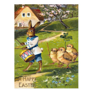 Vintage Osterhasen-Postkarte Postkarte