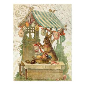 Vintage Osterhasenpostkarte Postkarte