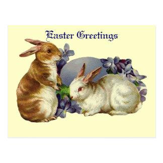 Vintage Ostern-Gruß-Postkarte Postkarte