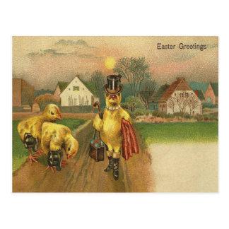 Vintage Ostern-Grüße Postkarte