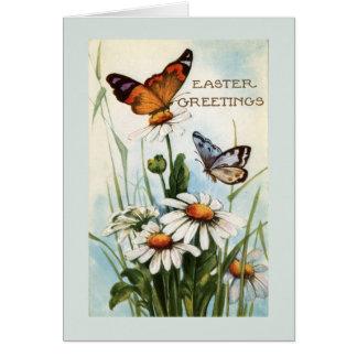 Vintage Ostern-Schmetterlings-Gruß-Karten Karte