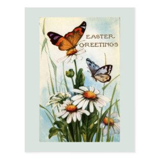 Vintage Ostern-Schmetterlings-Postkarte Postkarte