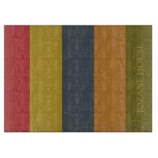 Vintage Palette Stripes personalisiertes Schneidebrett