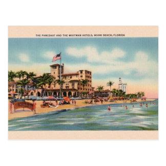 Vintage Pancoast und Whitman Hotel-Miami-Postkarte Postkarte