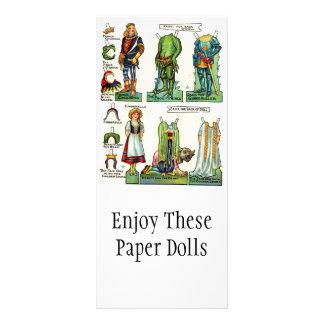 Vintage Papierpuppen-fördernde Karten