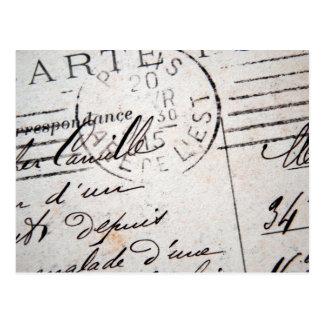 Vintage Paris-Postkarte, Cher Camille…. Postkarte