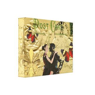 Vintage ParisTangopostkarte Gespannter Galerie Druck