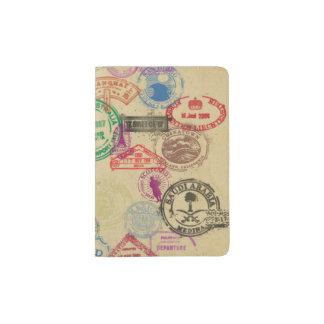 Vintage Pass-Briefmarken Passhülle