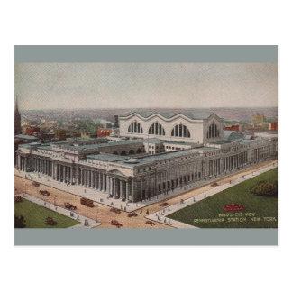 Vintage Pennsylvania-Stations-New- Yorkpostkarte Postkarte