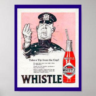 Vintage Pfeife-Soda-Anzeigenkopie 1920 mit Poster