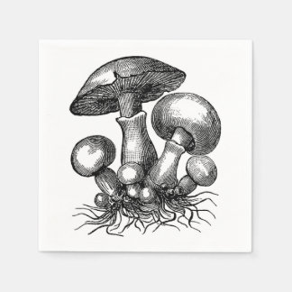 Vintage Pilz-Illustration Papierserviette