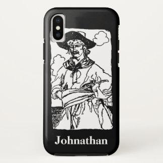Vintage Piraten-Skizze eines Kapitäns durch Howard iPhone X Hülle