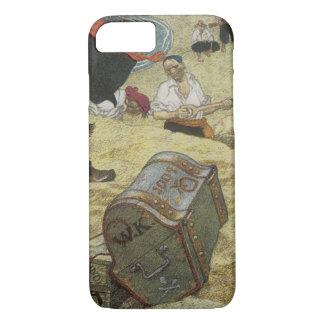 Vintage Piraten, William Kidd, der Schatz begräbt iPhone 8/7 Hülle