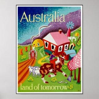 Vintage Plakat-Reise-historische Kunst Australien Poster