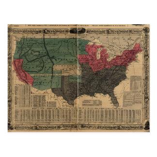 Vintage politische Karte der Vereinigten Staaten