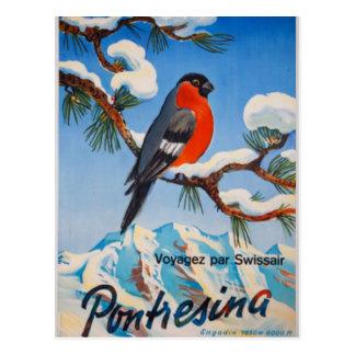 Vintage Pontresina Ferien-Schweizer Luft die Postkarte