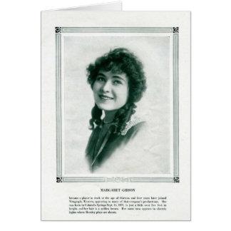 Vintage Porträtkarte Margaret Gibson 1917 Karte