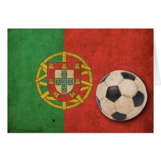 Vintage Portugal-Flagge Karte