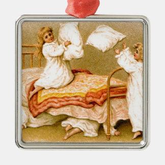 Vintage Postkarte Silbernes Ornament