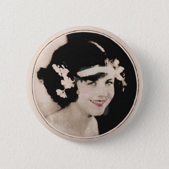 Vintage Prallplatte Runder Button 5,7 Cm