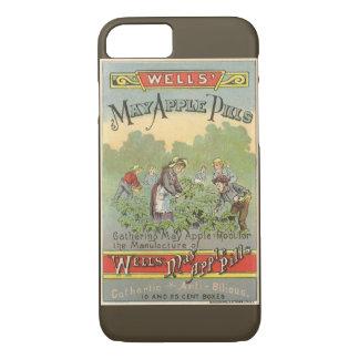 Vintage Produkt-Aufkleber-Kunst, Brunnen kann iPhone 8/7 Hülle