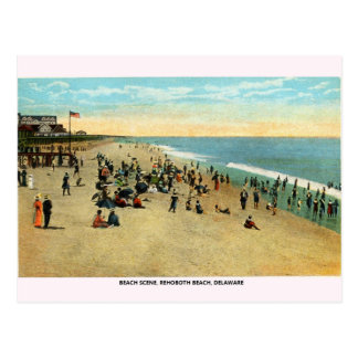Vintage Rehoboth Strand-Delaware-Postkarte Postkarte