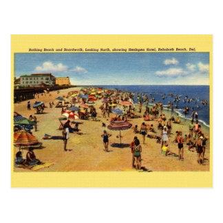 Vintage Rehoboth Strand-Postkarte Postkarte