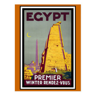 Vintage Reise Ägyptens Postkarte