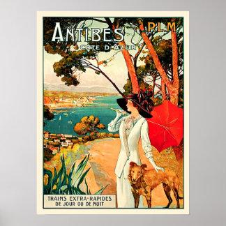 Vintage Reise Antibes Cote d'Azur Poster