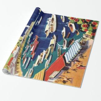 Vintage Reise Athen Griechenland Geschenkpapier