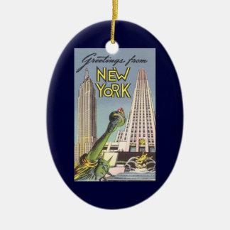 Vintage Reise, berühmte New- York Keramik Ornament