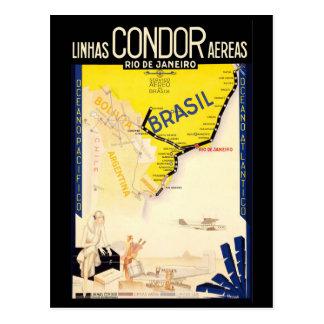 "Vintage Reise ""Brasiliens"" Postkarte"