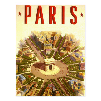 Vintage Reise, der Arc de Triomphe Paris Postkarten