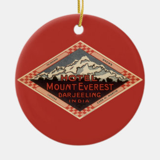 Vintage Reise, der Mount Everest, Darjeeling Keramik Ornament