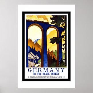 Vintage Reise Deutschland der schwarze Wald Poster