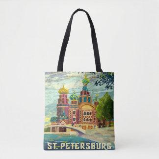 Vintage Reise-Ferien St Petersburg Russland Tasche