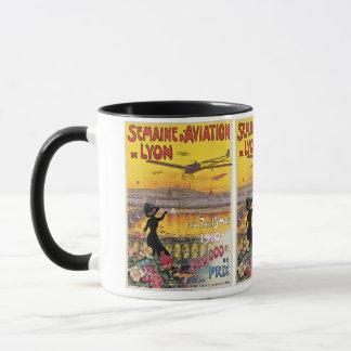 Vintage Reise, Flugzeug-Flugschau, Lyon, Tasse