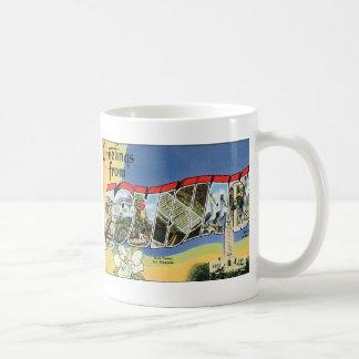 Vintage Reise, Grüße von Louisiana-Golf Kaffeetasse