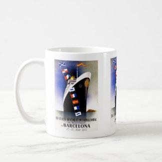 Vintage Reise, internationale Messe Barcelonas Kaffeetasse