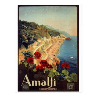 Vintage Reise Italien, Amalfi - Postkarten