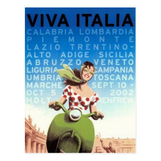 Vintage Reise Italien - Postkarte