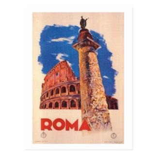 Vintage Reise Italien, Rom - Postkarte