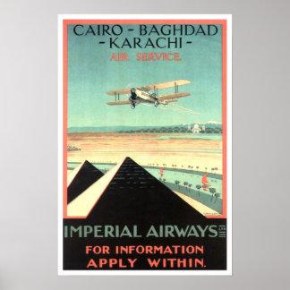 Vintage Reise, Kaiserfluglinien Plakatdrucke