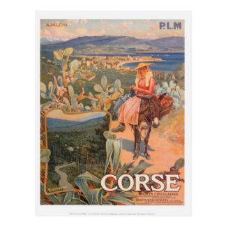 Vintage Reise Korsika, Ajaccio - Postkarte