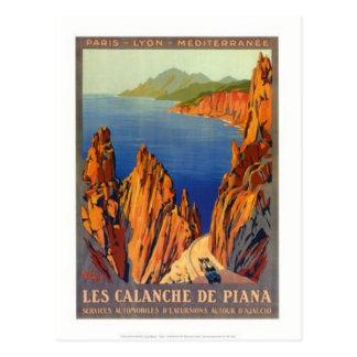 Vintage Reise Korsika - Postkarte