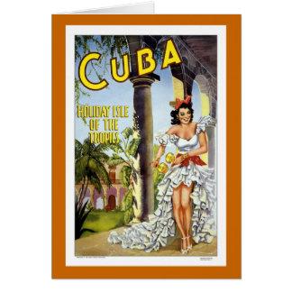 Vintage Reise Kubas Karte